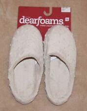 Dearfoams Womens Chino~Beige Super Soft Spa Slippers Shoes NWT several sizes
