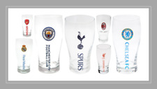 OFFICIAL FOOTBALL CLUB - Crested PINT GLASS {12+ Clubs} (Beer/Christmas/Gift)