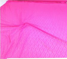Discount Fabric Stretch Mesh Lace Hot Pink  Abstract  LC646