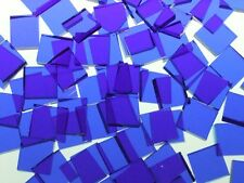 BLAZING BLUE ARTIQUE handcut stained glass mosaic tiles #319