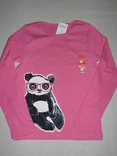 Gymboree PANDA ACADEMY Pink Bear Glasses Long Sleeve Shirt Top Tee  NWT 7