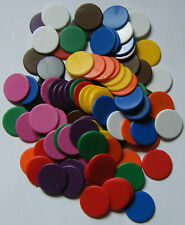 100 x 16mm Counters Choose from 10 Colours Board Games Tiddly Winks NEW