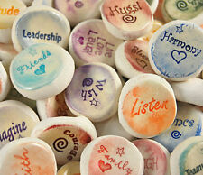 Ceramic Stones Handmade Words and Phrases  - Words F thru K