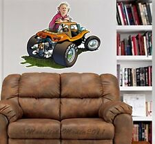 Meyers Manx Dune Buggy ATV Baja WALL GRAPHIC FAT DECAL MAN CAVE BAR KIDS 4101