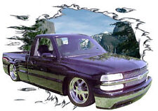 2000 Black Chevy Pick Up Truck Custom Hot Rod Mountaian T-Shirt 00, Muscle Car T