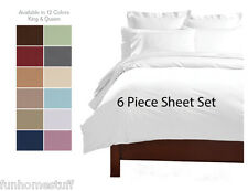 DEEP POCKET 1600 THREAD COUNT SERIES 6 PIECE BED SUPER SOFT SHEET SET ALL SIZES