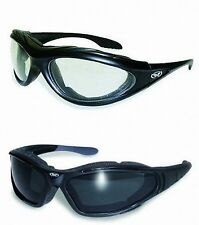 ANTI FOG Padded Motorcycle ATV Sunglasses Glasses-TRANSITIONAL PHOTOCHROMIC LENS