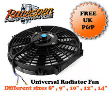 Universal Slim Electric Radiator Fan 8  9 10 12 14 Inch Kit Project Track Car