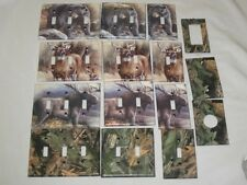 Realtree Camo/Bear/Deer/Moose Light Switch Plate Cover-Hunting Lodge Decor