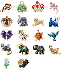 Charming Costume Brooch Pin Enamel Alloy Rhinestone Party Jewelry W22948