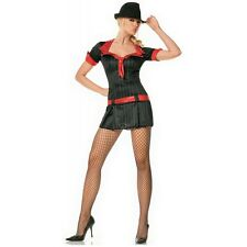 Gangster Costume Adult Sexy Halloween Fancy Dress