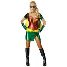 Robin Costume Adult Womens Sexy Batman Halloween Female Superhero Fancy Dress