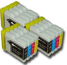 12 x Inkjet Cartridges Compatible With Brother LC1100 - 3 Sets Multi Pack