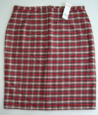 NWT Gymboree Women's Red Plaid Skirt Holiday Friend Holiday Pictures Family Line