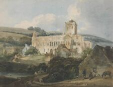 Jedburgh Abbey From South East Thomas Girtin Art Photo/Poster Reprint 6x4-A0