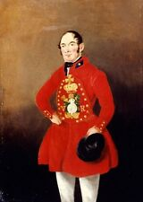 Photo Print Reproduction Painting Oil On Canvas Portrait Of Royal Bargeman