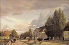 Photo Print Reproduction View Of Street Sterbro Outside Copenhagen Morning