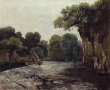 Photo Print Reproduction Weir At Mill Gustave Courbet Other Sizes Avail