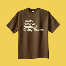 Turkey & Football & Family & Giving Thanks Thanksgiving T-shirt Pick Your Size