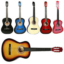 FULL SIZE 6 STRING ACOUSTIC CONCERT CLASSIC GUITAR 4/4 ADULTS BOYS GIRLS LEARN