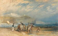 Folkestone Harbour Coast Dover Joseph Mallord William Turner 1829 Art Poster/Pho