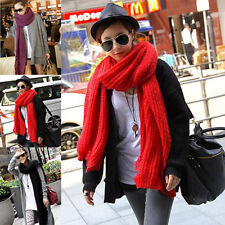 Women Winter Warm Extra Long Tear Design Knit Scarf Shawl 4 color SC-016