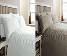 GEO EGYPTIAN COTTON 300 THREAD  DUVET COVER  BED SET