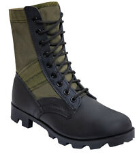 """JUNGLE BOOTS GI TYPE 8"""" BLACK AND OLIVE DRAB VARIOUS SIZES ROTHCO 5080"""