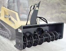 "Universal Skid Steer Snowblower Attachment 61"",73"",79"",85""- 2 Stage - Throws 40'"