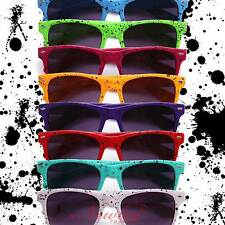 New Mens Paint Drip Splattered Sunglasses 8 Colors Retro 70s 80s Fixie Hipster