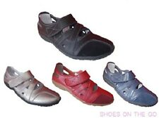 Ladies Leather Shoes Flat Cherry Alyssa Black Pewter Red and Navy 5 6 7 8 9 10