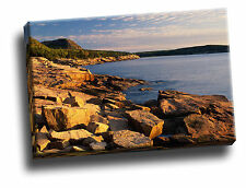 First Light Near Otter Cliffs Acadia National Park, Maine Giclee Canvas Picture