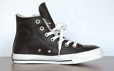 Neu All Star Converse Chucks Hi Leder Leather 132125c Black gefüttert UVP 99,95€