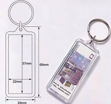 Wholesale Blank Clear Acrylic Keyring 22x57 Photo Insert DIY Craft Keychain A704