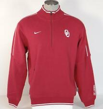 Nike Collegiate University of Oklahoma Half Zip Red Sweatshirt 1/2 Zip Mens NWT