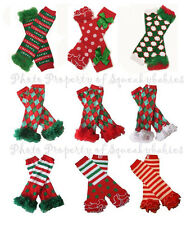 Leg Warmers 2 wear with Squeaky Shoes Holiday Styles Toddler Baby Christmas Fun!