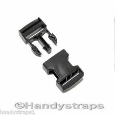 50 x 25mm Black Plastic Side Release Buckles for webbing  Quick Release Buckles