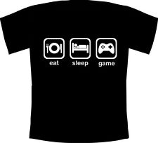 Mens Eat, Sleep, Game - Printed Gaming Fanatic T-Shirt Wii,XBOX,PS3,360,DSi