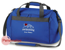 Personalised Swimming Mini Holdall Travel kit Bag Your Name Slogan Childs Team
