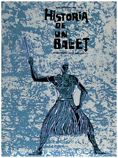 211.Art Decor POSTER.Graphics to decorate home office.Historia de un Ballet blue