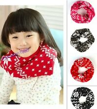 New Kids Baby Toddler Pretty Snow Flake Neck Round Scarf Shawl Wraps 4 Colors