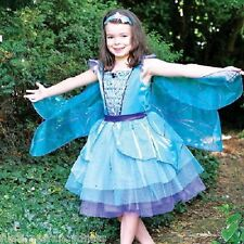 Girl's Deluxe Dragonfly Costume With Wings Ugly Bug Ball Fancy Dress All Sizes