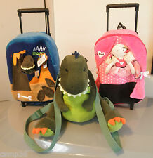 Gund Backpack or Overnight Trolley Dinosaurs Dance Ballet Boys Girls New Tags