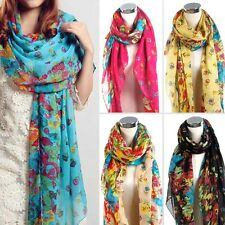 New Fashion Lady Girls Vintage Long Soft Cotton Scarf Wrap Shawl Stole Scarve