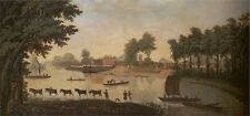 6x4, 7x5, 9x6 in. Reproduction View Of Shepperton On River Thames Undated Artist