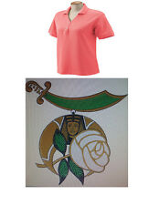 DAUGHTER OF THE NILE MASON SHRINER,EMBROIDERED MONOGRAM LADIES POLO SHIRT