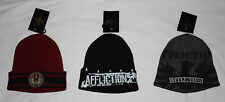 AFFLICTION Men's Graphic Beanie Skull Cap Hat Sz OS NWT many colors available **