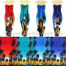 Coconut Tree Sarong Pareo Skirt Dress Wrap Cover-up Beach variation uk sa096