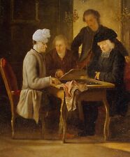 Photo Print: Huber Jean Voltaire At A Chess Table #jwnh2348