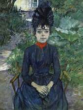 Photo Print Justine Dieuhl in the Garden of Pere Forest Toulouse-Lautrec, Henr